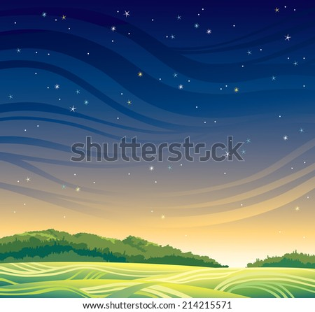 summer magic landscape with