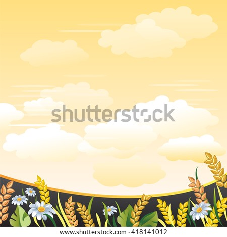 summer meadow agricultural