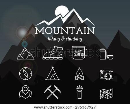 summer mountain camp badge ...