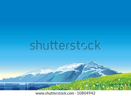 Summer mountain landscape