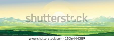 summer mountain landscape  dawn