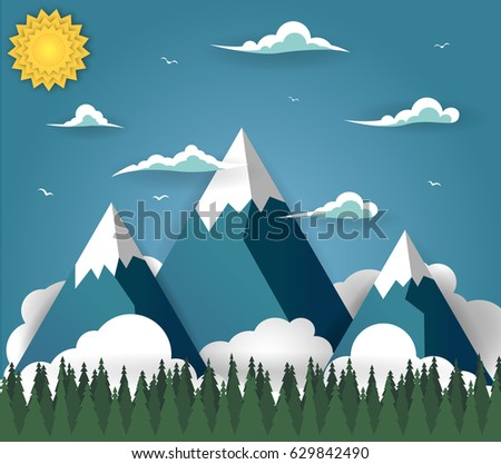 summer mountain landscape with