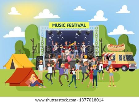 summer music festival outdoor