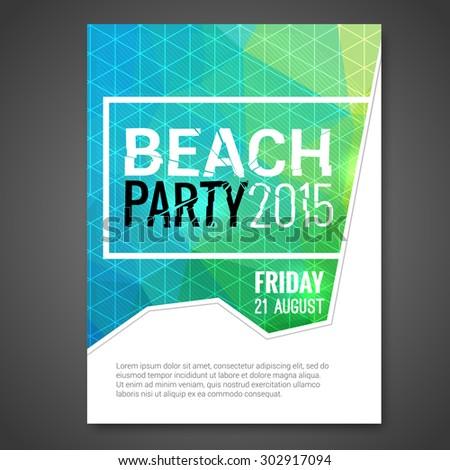 summer night beach party vector