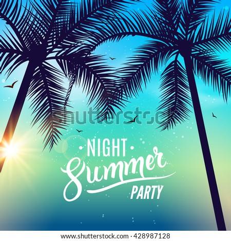 summer night dance party beach