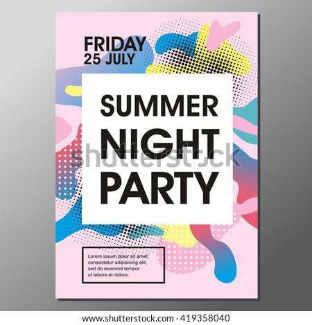 Summer Beach Party Banner Flyer Template Design Download Free