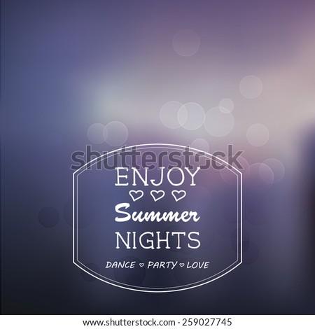summer nights blur vector