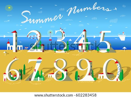 summer numbers signs are as