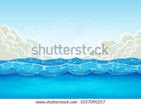 summer ocean background for ui