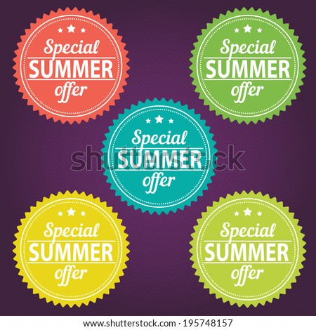 Summer offer stickers