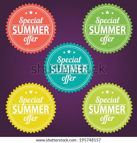 Summer offer stickers