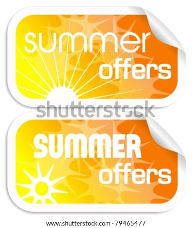 summer offers, stickers
