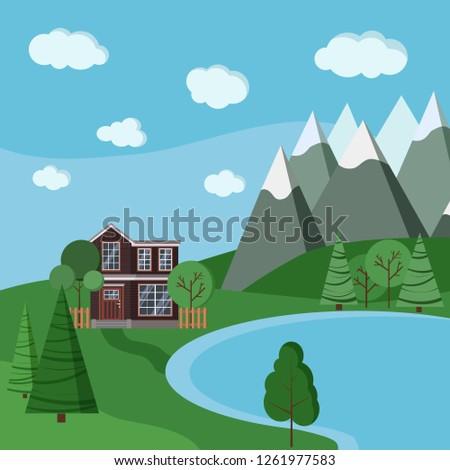 summer or spring mountain