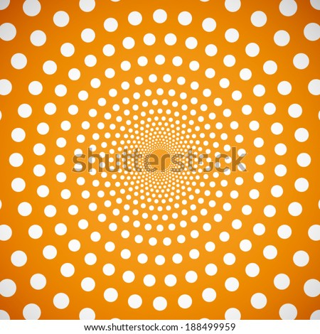 summer orange background with circle pattern (vector)
