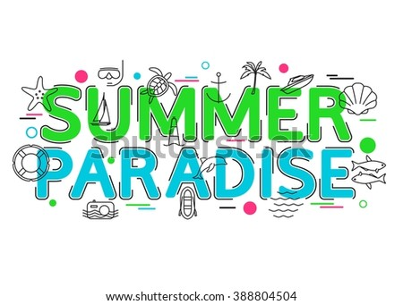 summer paradise background with