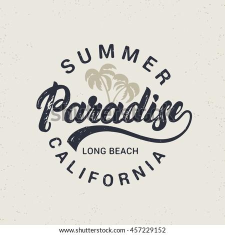 summer paradise hand written