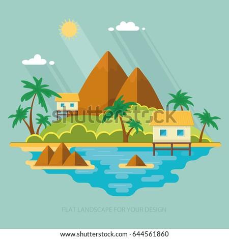 summer paradise ocean landscape