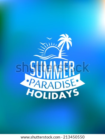 summer paradise poster poster