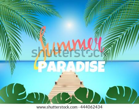 summer paradise poster summer
