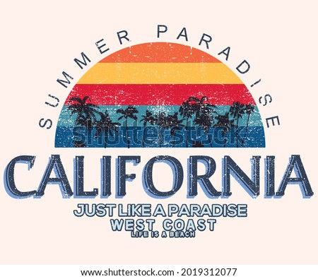 summer paradise vector graphic