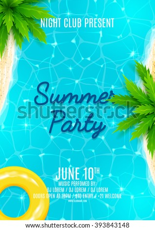 summer party flyer beautiful