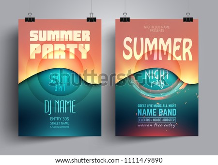 summer party flyer or poster
