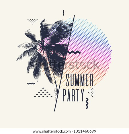 summer party  modern poster
