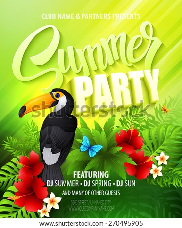 summer party template poster