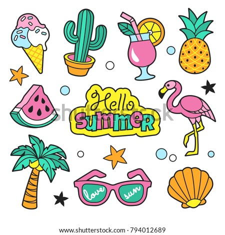 summer patches collection
