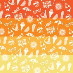 Summer pattern. Summer elements collection. Vector Illustration.