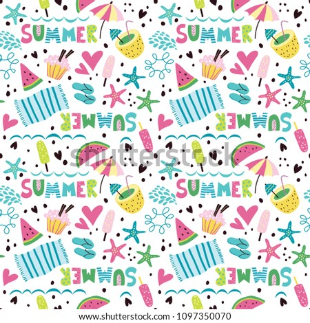 b5e0860fed3cb Summer pattern with cocktails
