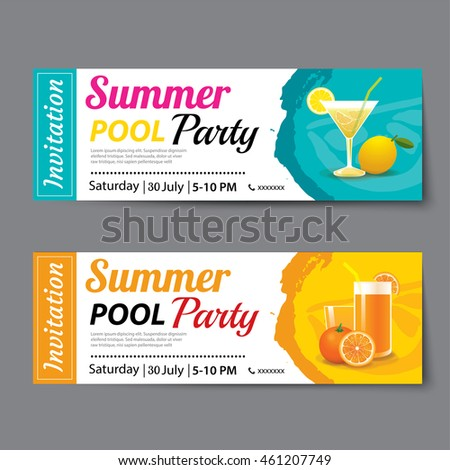 Shutterstock Mobile RoyaltyFree Subscription Photography – Party Ticket Template
