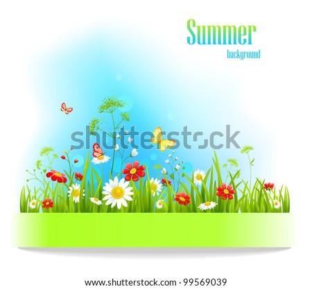 summer positive floral