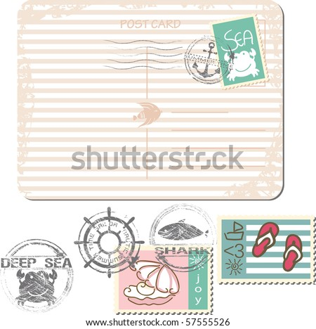 summer postage set