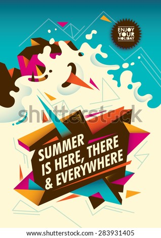 summer poster design with
