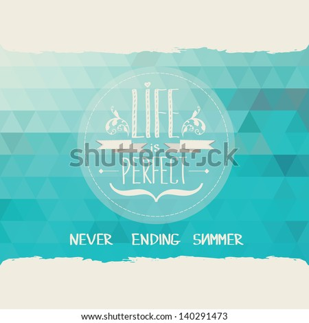 Summer poster.Typography.Vector illustration.