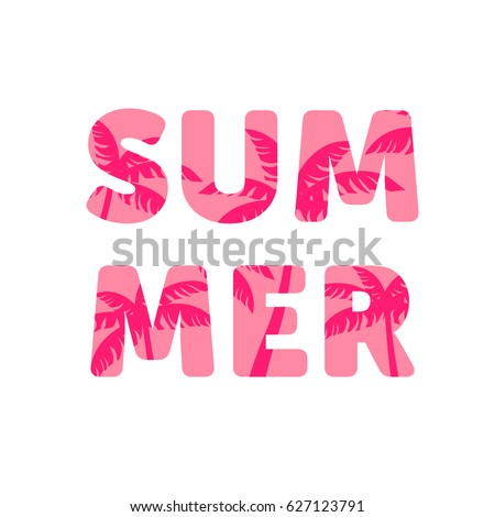 summer  poster with cut out