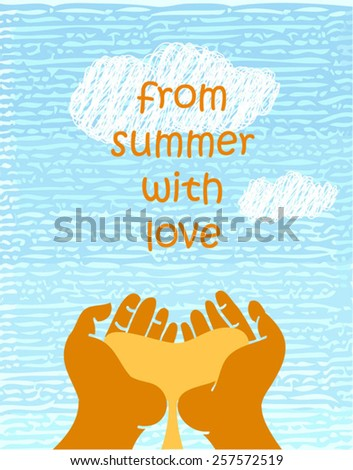 summer poster with hands
