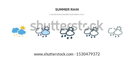 summer rain icon in different