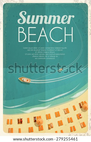 summer retro beach background