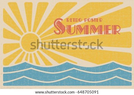 summer retro poster abstract