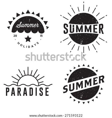 summer retro vintage badges