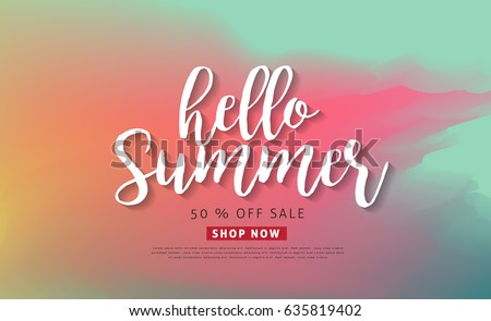 Summer sale background layout banners.voucher discount.Vector illustration template.