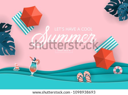 summer sale banner design with