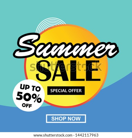Summer sale banner, flyer, web etc template vector up to 50% off #1442117963