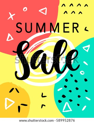 Summer Sale Banner Template Background. Vector Illustration