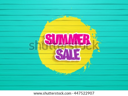 summer sale design painted
