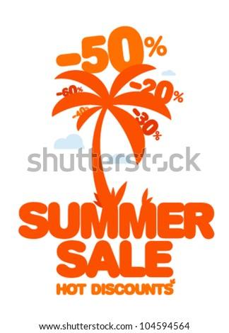 Summer sale design template. Fresh discounts.