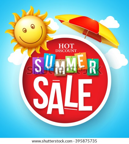 summer sale hot discount in red