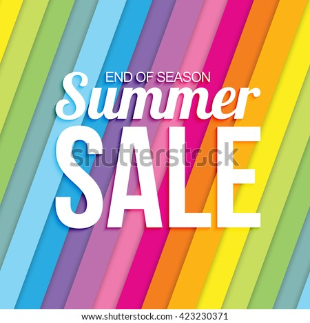 summer sale on colorful striped